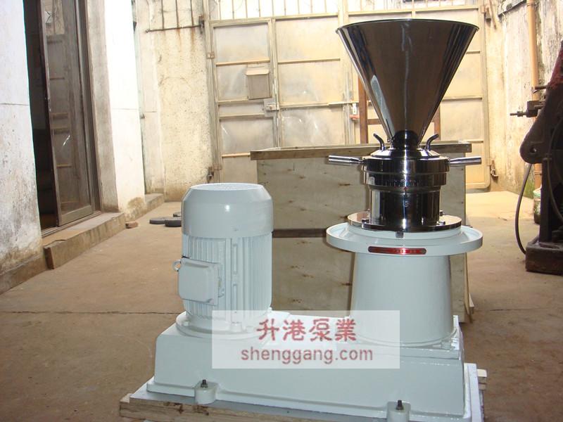 胶体磨的基本工作原理是剪切,研磨及高速搅拌作用.
